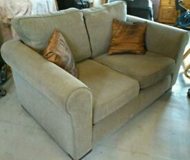 2 and 3 seater grey herringbone pattern sofa. Good condition. Odeon furniture co.