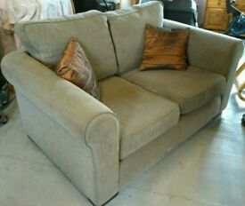 [sold] 2 and 3 seater grey herringbone pattern sofa. Good condition. Odeon furniture co.