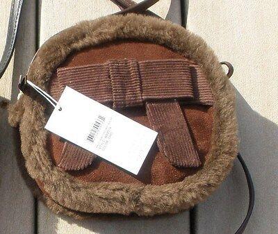 Nwt Ugg Australia Black Bailey Bow  Box Zip Crossbody Bag Purse Wbz014