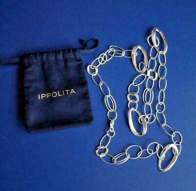"Ippolita Sterling Silver Necklace Classico Chain Cherish 35"" Long Necklace"