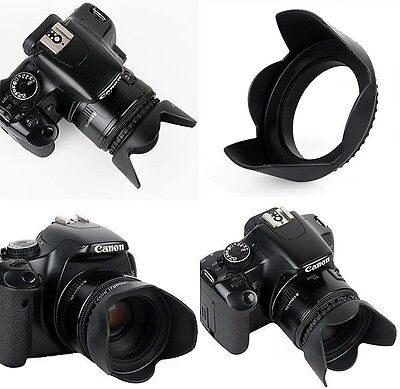 Pro Hard Lens Hood with Collar Clamp For Canon EOS Rebel T6 80D 70D