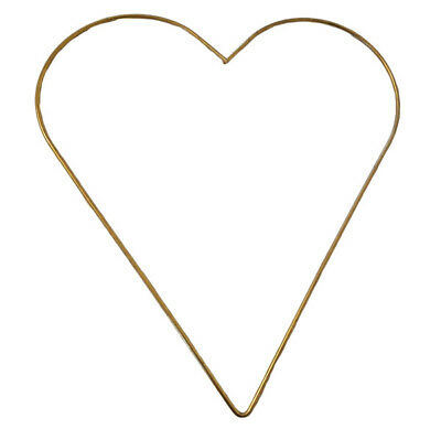 """12"""" Brass Metal Heart Frame Ring Valentine's Day Decor Vintage Macrame Supplies for sale  Shipping to India"""