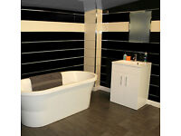 Wet Wall Panels 10mm x 200mm x 2.7m or 4m - Various Solid Colours with a silver strip, only £9 each