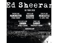 2 Ed Sheeran Standing Tickets (Manchester 27th May)