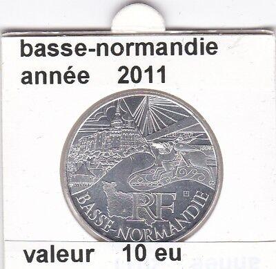 va )pieces de 10 eu basse-normandie  2011  50%  argent