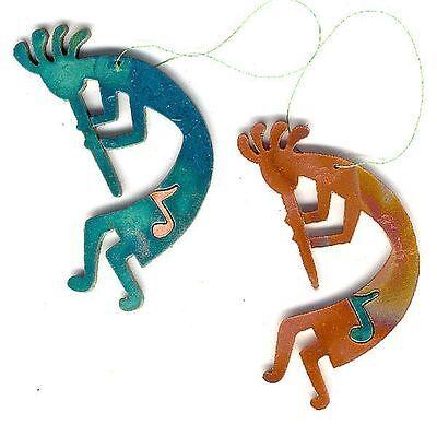 COPPERCUTTS Kokopelli w/ Music Ornament SWest Copper w/ Choice of Primary Color! - Music Ornaments