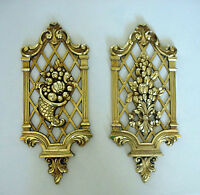Vintage 1971 Dart Ind.Wall Plaques Gold Gilt Effect