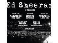 Ed Sheran Tickets - Manchester May 18