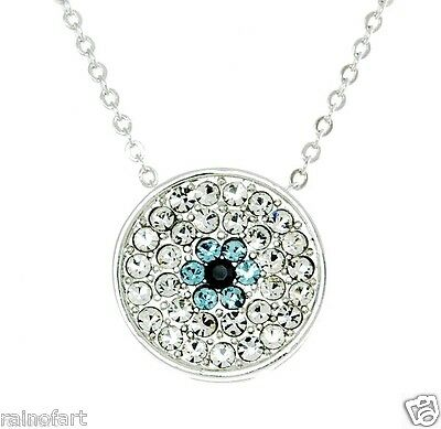 W Swarovski Crystal Nazar Amulet Protect Against The Evil Eye Pendant Necklace