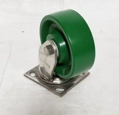 130xi06201szb03 Albion Stainless Steel Swivel Caster Elastomer Wheel 1000 Lb Cap