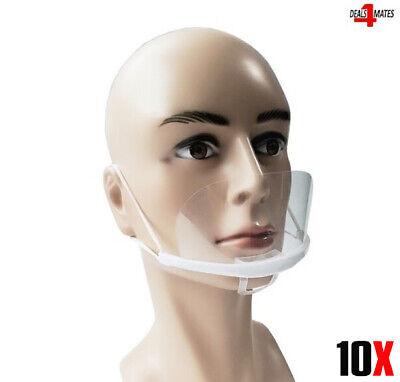 10x Gesicht Mund & Nase Schutz Shield Visier Wiederverwendbar M Größe UK Lager