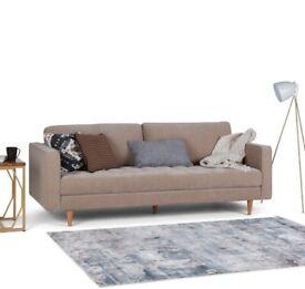 Wayfair Blaine 3 Seater Sofa Warm Grey | RRP £509