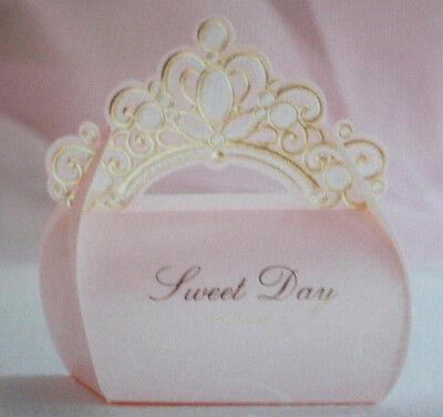10 Geschenke Box Tasche für Gastgeschenke Fb Rosa Gold  Hochzeit Party