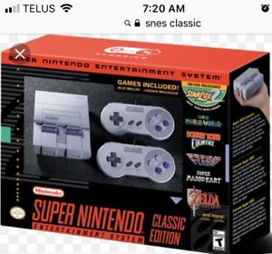 New Snes classic for sale 200$
