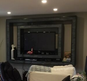 Custom built two piece wall unit