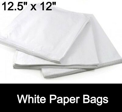 SULPHITE WHITE PAPER BAGS FRUIT SWEETS JEWELLERY 12.5
