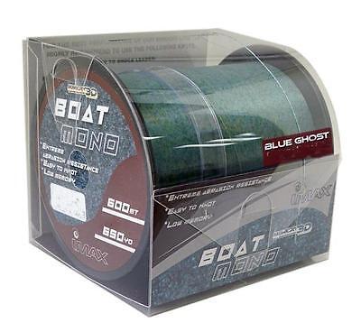 Imax Mimicry boat mono 600m 20lb 9.5kg 0.370 b/ghost sea fishing line rrp 29.99