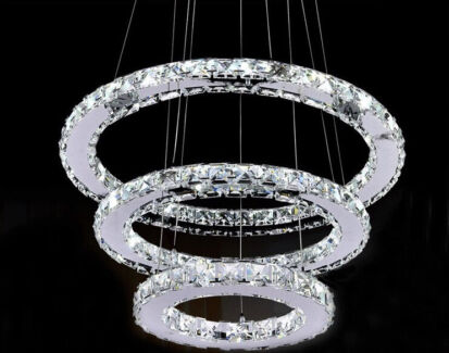 Crystal Chandelier LED NEW BOOMERANG   Ceiling Lights   Gumtree ...