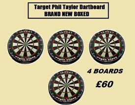 Target Phil Taylor Dartboard joblot BRAND NEW BOXED