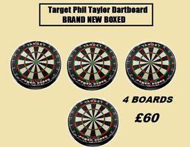 Target Phil Taylor Dartboard joblot BRAND NEW BOXED