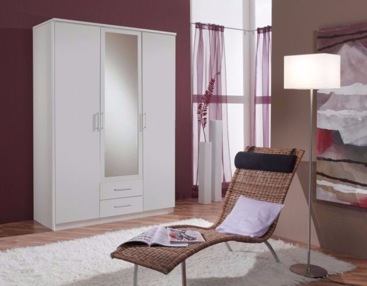 ==CLASSIC OFFER EXPRESS DELIVERY== BRAND NEW 3 DOOR OSAKA WARDROBE IN WHITE AND WALNUT WITH MIRROR