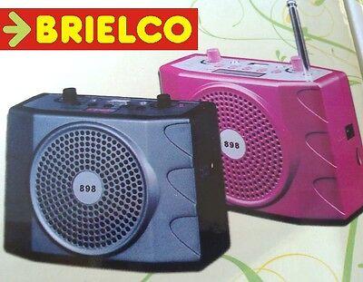 AMPLIFICADOR PERSONAL PORTATIL BATERIA LECTOR USB SD FM MANDO DISTANCIA BD9341