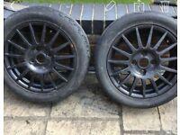 2 Ford Fiesta alloys.