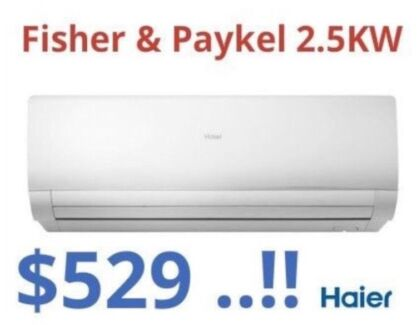 ***NEW*** Fisher & Paykel 2.5KW Split System Air Conditioner $529