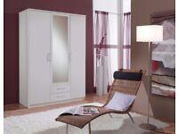 GERMAN OSAKA *** 3 DOOR + 2 DRAWER WARDROBE - 4 DOOR WARDROBE ALSO AVAILABLE IN WHITE AND WALNUT
