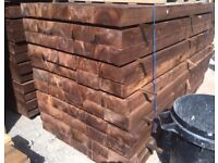 Tanalised Wooden Sleepers // Brown New
