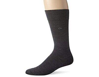 Calvin Klein Mens Wool Blend Gray Flat Knit Dress Socks One Pair Size 7-12 NWT Calvin Klein Knit Socks