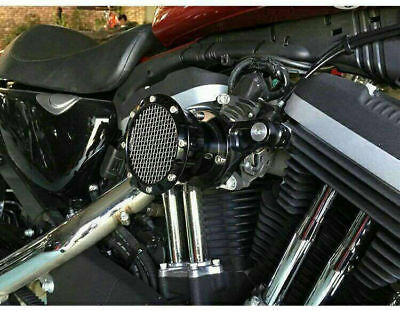 Black Velocity Stack Air Cleaner Filter System For Sportster XL 883 1200 91-2016