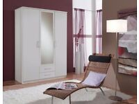 【SALE PRICE £159】OSAKA 3 DOOR WARDROBE AVAILABLE IN WALNUT & WHITE COLOR - CALL NOW