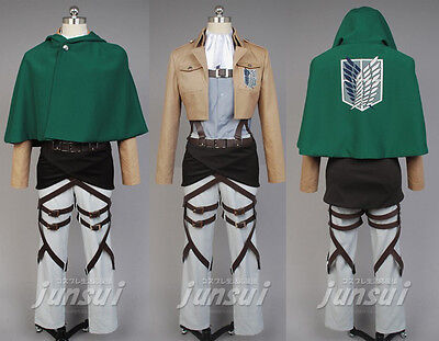 Titans Costume (Attack on Titan Shingeki no Kyojin Levi Levil Scouting Legion Cosplay)