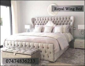 WING bed both in crushed velvet and chenile and all colours available NwoU