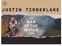 Justin Timberlake 4x Standing Tickets Birmingham 27th June £115 each