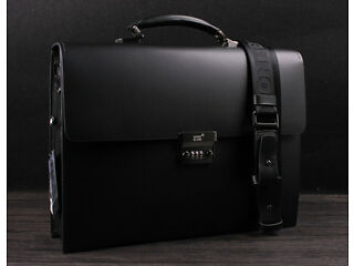 Montblanc Platinum Series Leather Briefcase Bag Camberley Picture 1