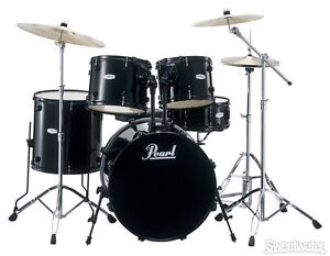 Pearl Forum Drum Kit --- complete with hardware and cymbals
