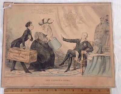Antique  Print George IV 1830 Satire