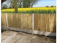 ®New Flat Top Feather Edge Fence Panels • Excellent Quality • Timber • Pressure Treated
