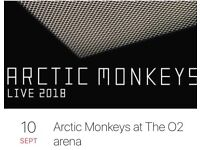 One Seated Ticket for Arctic Monkeys at O2 Mon 10th Sep