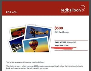 Red Balloon $500 Gift Voucher Cowan Hornsby Area Preview