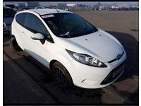 Ford. Fiesta. Bonnet. White. Breaking spares parts