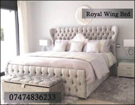 WING bed both in crushed velvet and chenile and all colours available gMUV