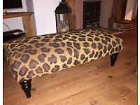3 seater leather couch/ Cuddle chair & footstool also cushions