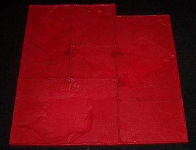 Rigid Ashler Slate Decorative Concrete Cement Texture Imprint Stamp Mat Brick