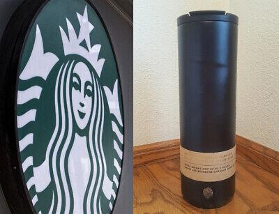 RARE Starbucks 20 oz Matte Black Stainless Steel Tumbler - Mug - Hot/Cold 5 Hrs!