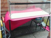 4ft fish tank stand light and lid