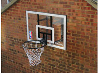 NBA Spalding Basketball Acrylic Backboard With Metal Ring Hoop & Net - No Brackets - USED