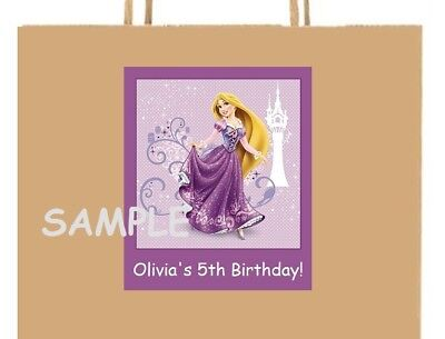 18 Personalized Tangled party stickers,birthday,labels,supplies,favors,rapunzel